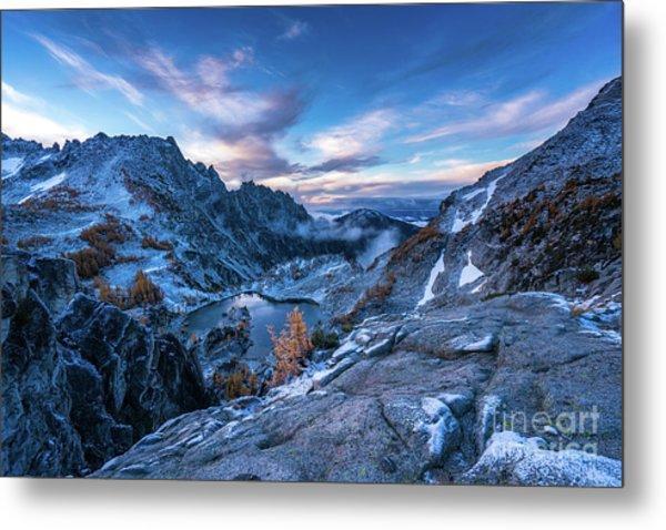 Enchantments Crystal Lake Winter Landscape Metal Print