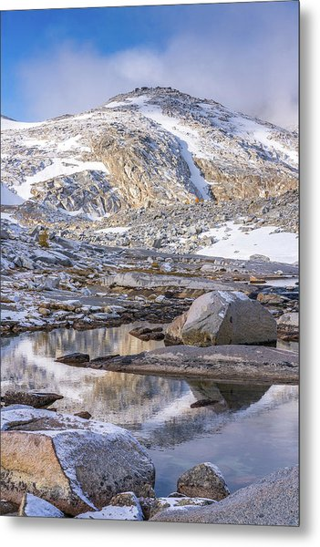 Enchantments Little Annapurna Tarn Reflection Metal Print