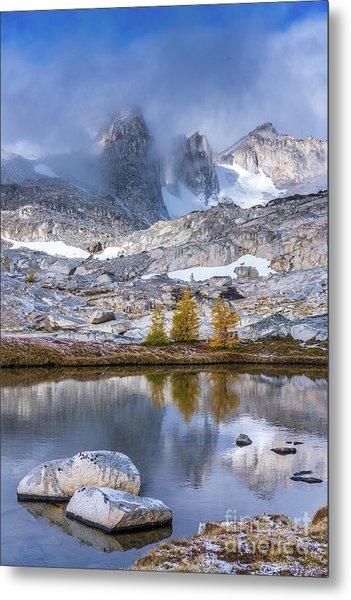 Enchantments Majestic Peaks Fall Larches Metal Print