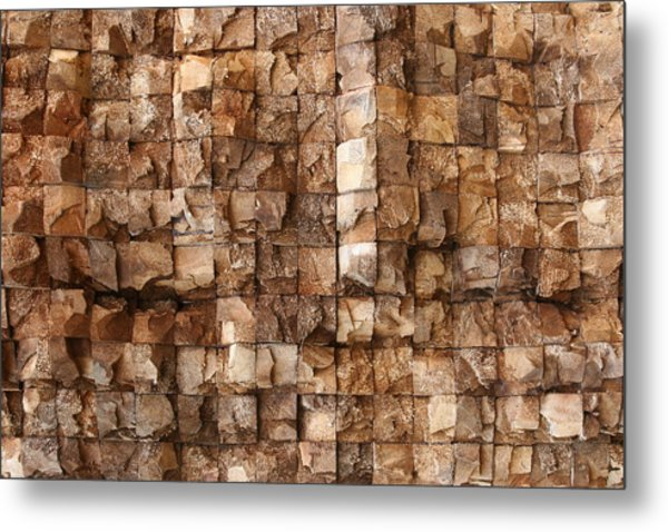 End Grain 132 Metal Print