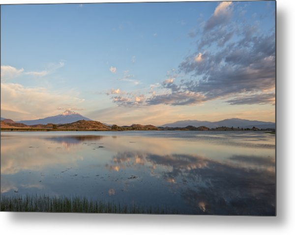 End Of Day Reflections Metal Print