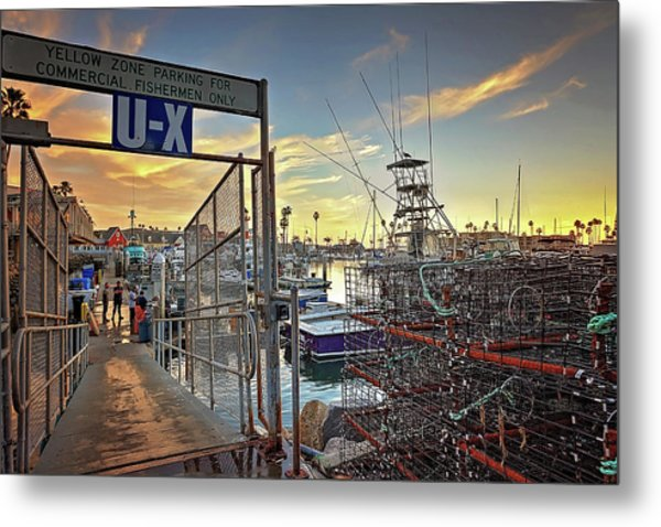 End Of Fishing Day Metal Print
