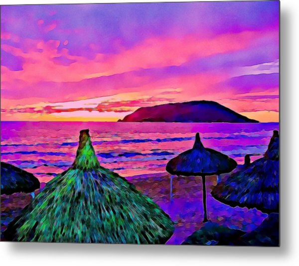 End Of The Beach Day In Mazatlan Metal Print
