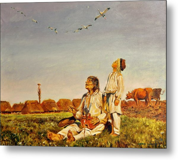 End Of The Summer- The Storks Metal Print