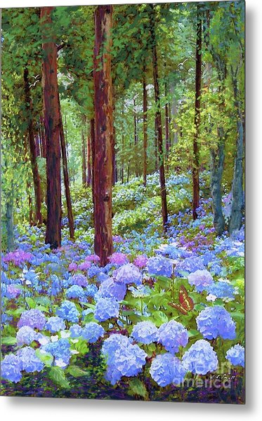 Endless Summer Blue Hydrangeas Metal Print