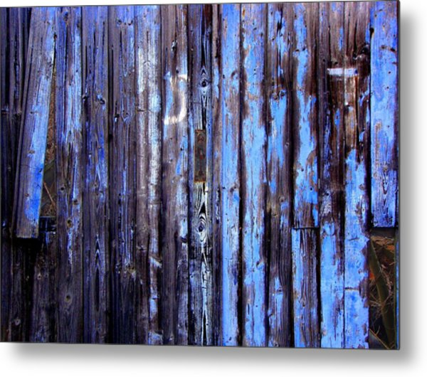Enduring Blue Metal Print