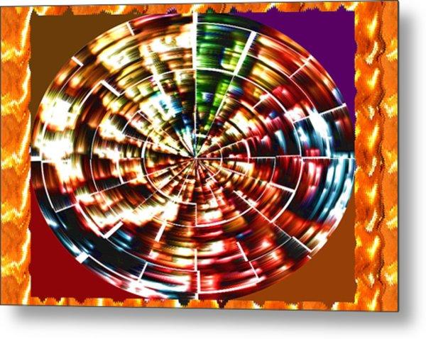 Energy Aura Cleaning Wheel In Motion Yoga Meditation Mandala By Navinjoshi At Fineartamerica.com Metal Print