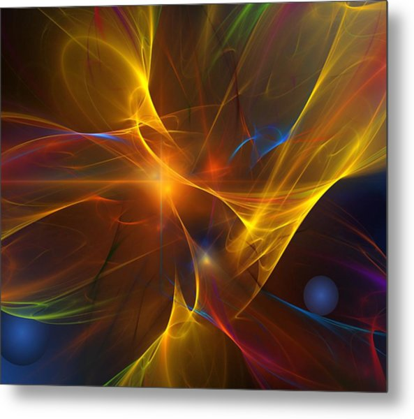 Energy Matrix Metal Print