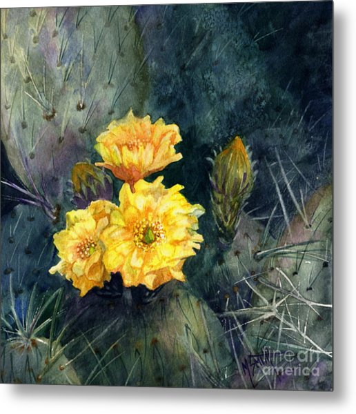 Engelmann Prickly Pear Cactus Metal Print
