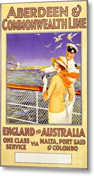 England To Australia Metal Print