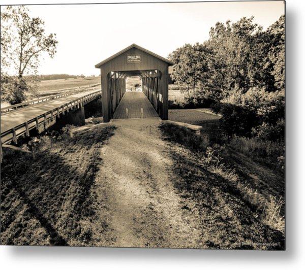 Engle Mill Covered Bridge Metal Print