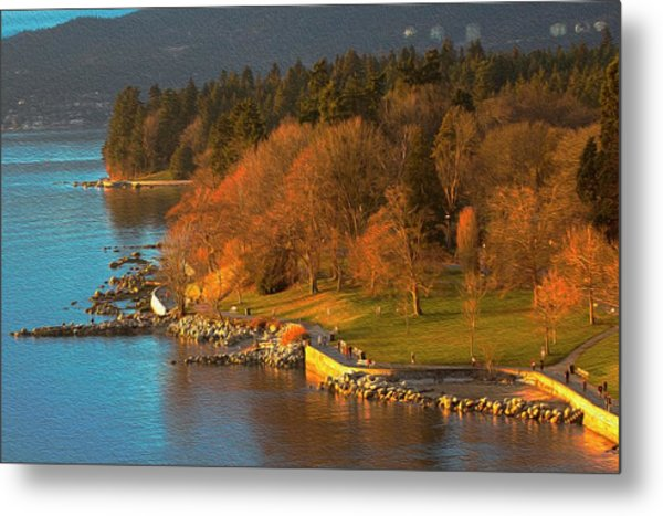 English Bay At Golden Hr. Metal Print
