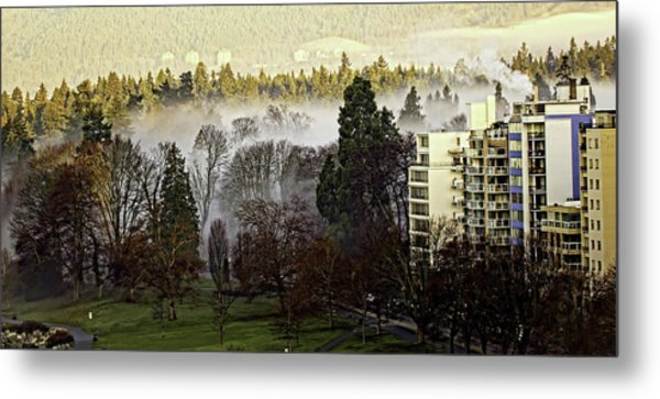 English Bay Fog Metal Print