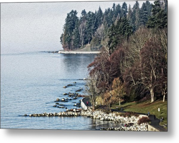 English Bay Shore Metal Print
