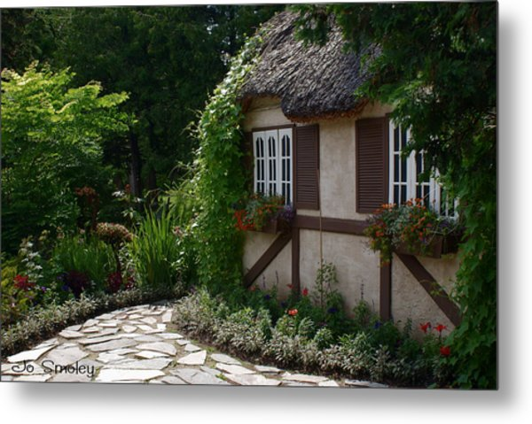 English Cottage Metal Print