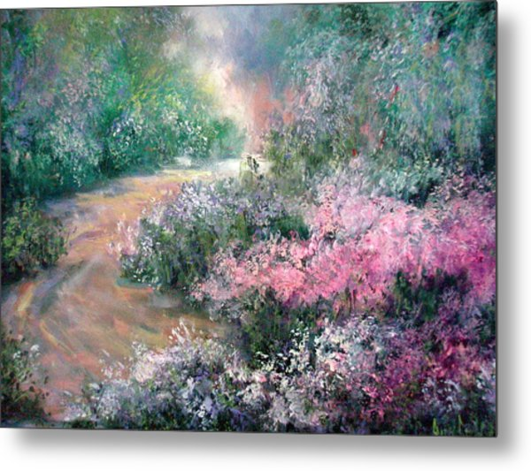 English Path Metal Print by Sally Seago