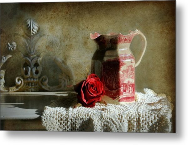 English Rose Water  Metal Print