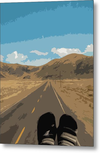 Enjoying The View Of The Peruvian Countryside Metal Print