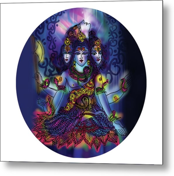 Enlightened Shiva Metal Print