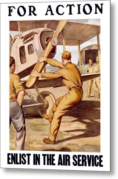 Enlist In The Air Service Metal Print