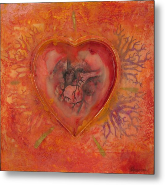 Enshrine - Outward Heart Metal Print