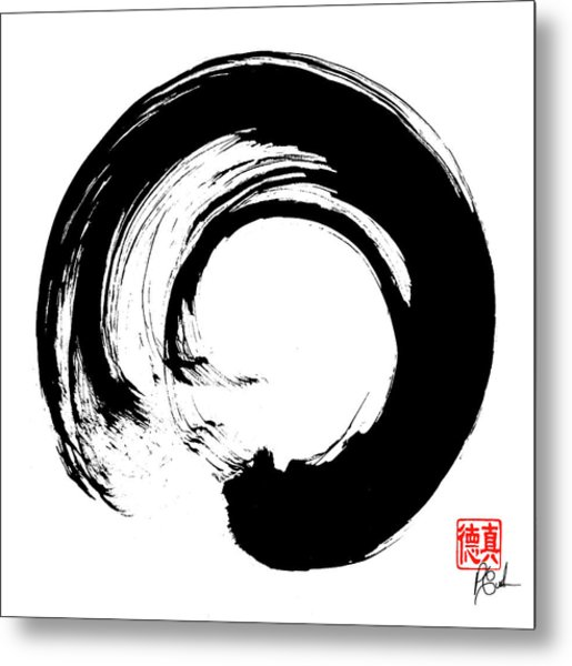 Enso / Zen Circle 16 Metal Print