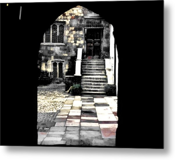 Enter London Metal Print