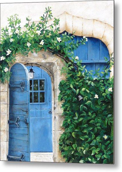 Enter My Garden Metal Print by Denise H Cooperman
