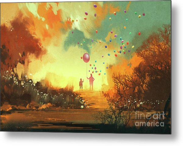 Metal Print featuring the painting Enter The Fantasy Land by Tithi Luadthong