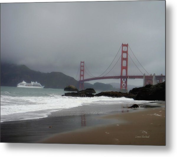 Entering The Golden Gate Metal Print