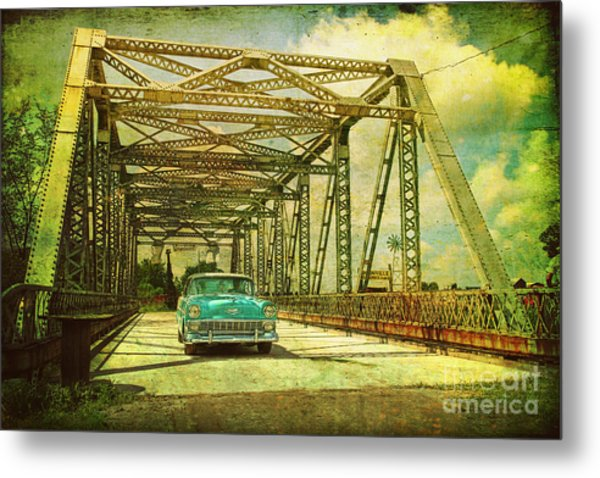 Entering The Past Metal Print