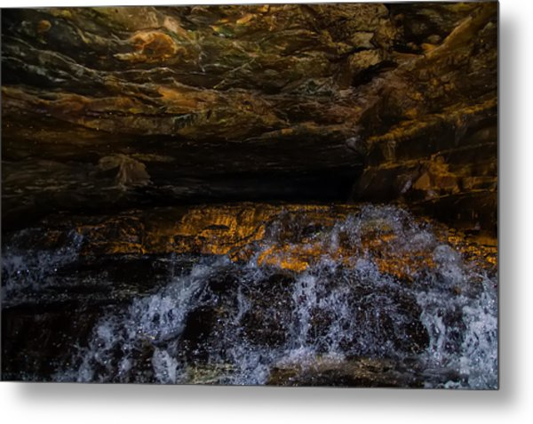 entering the unknown - Cavern Metal Print