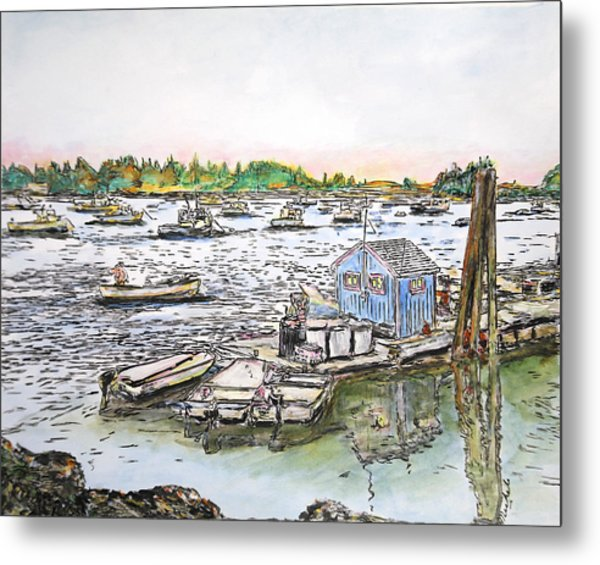 Entering Vinal Haven, Maine Metal Print