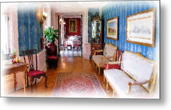 Entrance To Dining Room. Metal Print by Ralph Liebstein