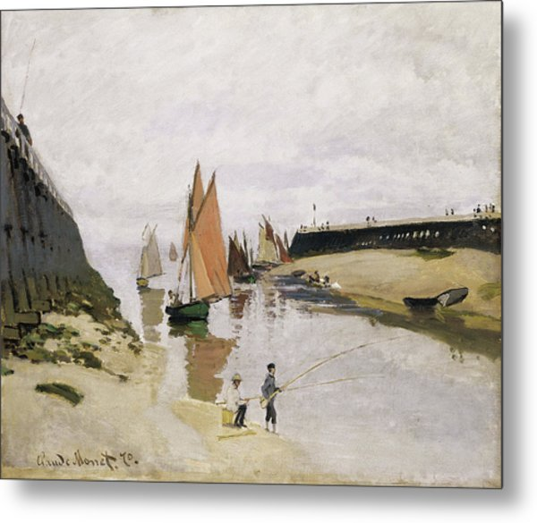 Entrance To The Port Of Trouville 1870 Metal Print