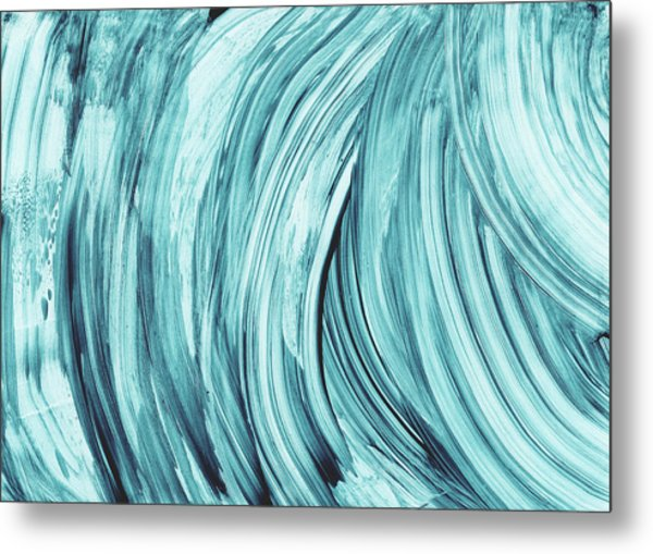 Entranced 2- Abstract Art By Linda Woods Metal Print