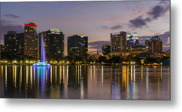Eola Evening Metal Print