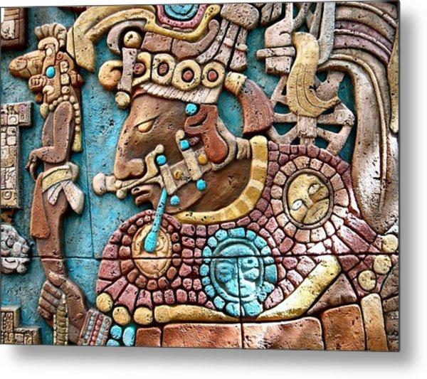 Epcot Mayan Warrior Metal Print