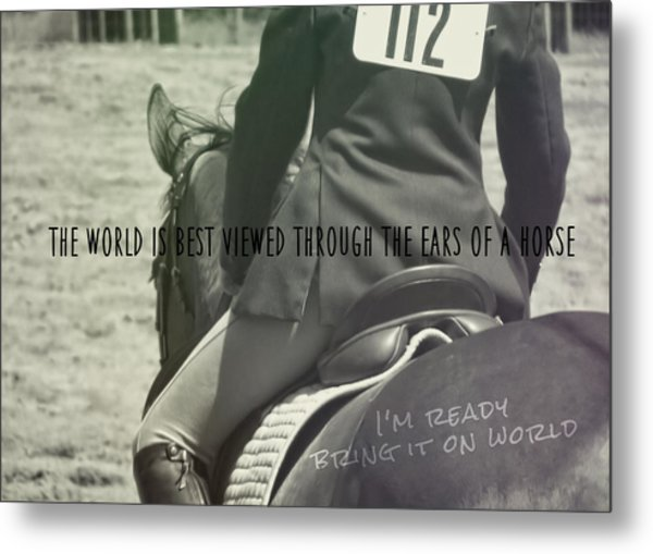 Equitation Quote Metal Print by JAMART Photography