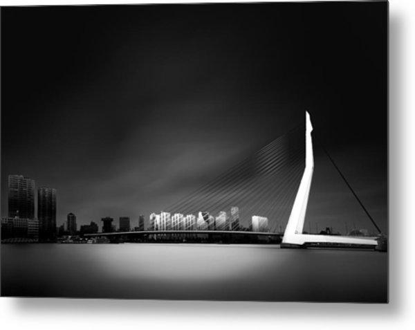 Erasmus Bridge Rotterdam Metal Print