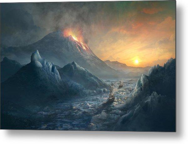 Erebus Mount Metal Print