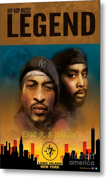 Metal Print featuring the digital art Eric B. And Rakim by Dwayne Glapion
