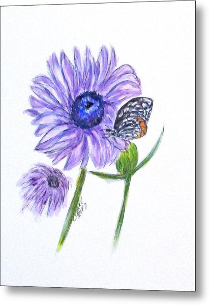 Erika's Butterfly Three Metal Print