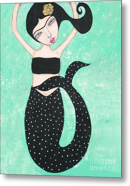 Metal Print featuring the mixed media Eris by Natalie Briney