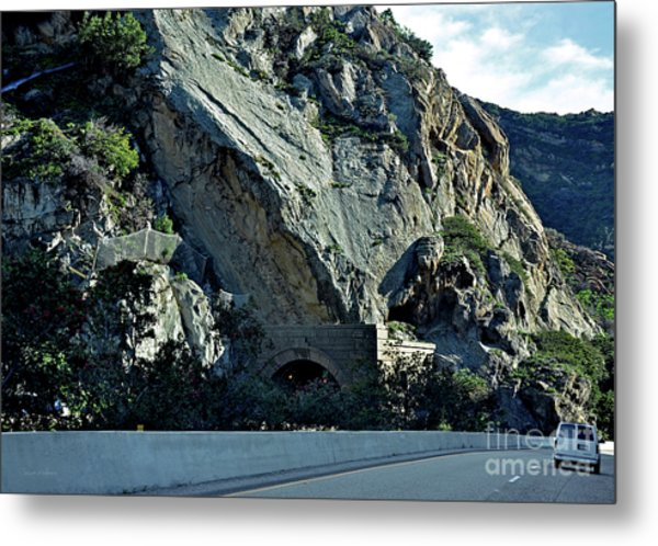 Eroding Hillside And Tunnel Metal Print