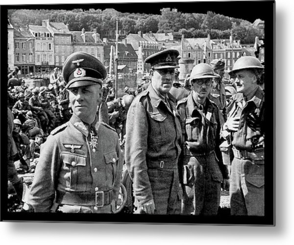 Erwin Rommel And Captured British Soldiers Tobruck Libya 1942 Color Added 2016  Metal Print