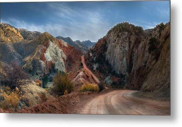 Grand Staircase Escalante Road Metal Print