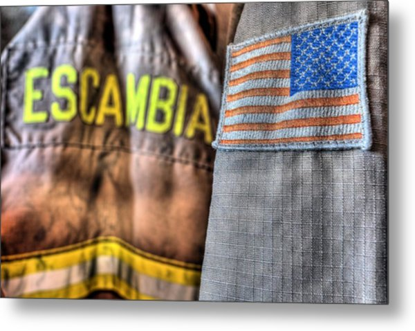 Escambia County Fire And Rescue Metal Print