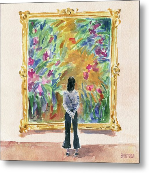 Escaping Into Monet's Garden Metal Print