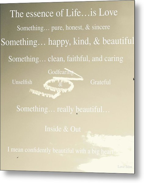 Essence Of Life Metal Print